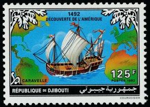 Djibouti 700 MNH Ship, Map, Discovery of America