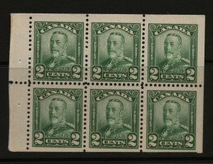 Canada #150a Mint Very Fine Original Gum Hinged Booklet Pane
