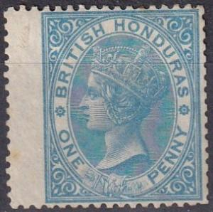British Honduras #1  F-VF  Used  CV $72.50 (A19090)