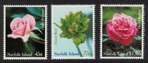 Norfolk Roses 3v SG#703-705 SC#683-685