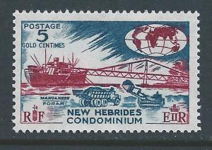 New Hebrides, British #96a NH Manganese Loading, 5c Color...