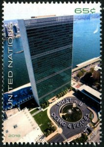 HERRICKSTAMP NEW ISSUES UNITED NATIONS Peace MI Block of 4