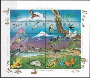 Mongolia, Fauna, Birds, Animals, Butterflies, Insects MNH / 1994