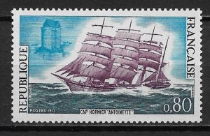1971 France 1301 Cape Horn Clipper Antoinette MNH