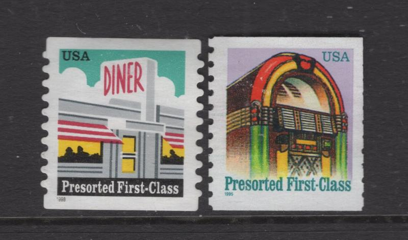 US 1995-7 Presorted First Class  Stamps 2 Stamps  MNH