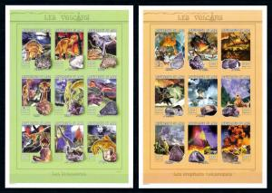 [76554] Mali 1999 Prehistoric Animals Dinosaurs Volcanoes 2 Imperf. Sheets MNH