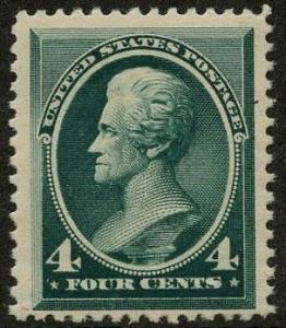 US Scott #211 Mint, FVF, Hinged
