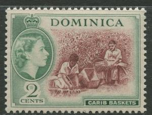 DOMINICA -Scott 144 - QEII Definitive -1954 - MVLH - Single 2c Stamp