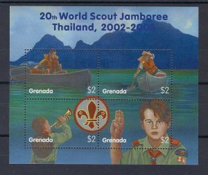 2002 Grenada World Scout Jamboree Thailand m/s 4