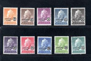 Christmas Island 1-10,    VF, Used,  CV $10.85 ....  1370001