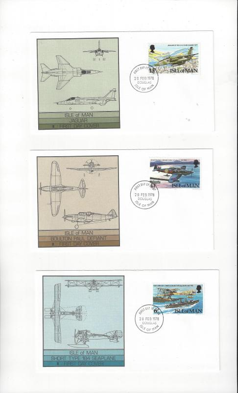 Isle of Man FDC 109-12  Royal Air Force Diamond Jubilee Fleetwood Cover
