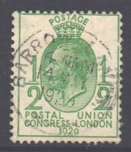 GB Scott 205 - SG434, 1929 PUC 1/2d used