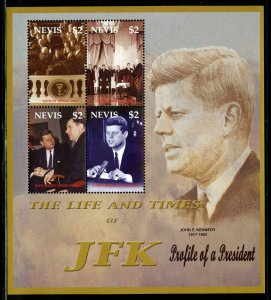 NEVIS THE LIFE & TIMES OF JFK JOHN F. KENNEDY  SHEET II  MINT NEVER  HINGED