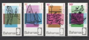 Bahamas 1968 Sports Scott # 272 - 275 MNH
