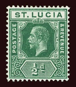 ST LUCIA Scott #64 (SG 78) 1912 unused VLH