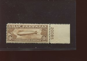 Scott C14 Graf Zeppelin Air Mail Mint Plate #  Stamp  (Stock C14-168)