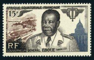French Equatorial Africa C42, MNH. Michel 297. Gov General Felix Eboue, 1955.