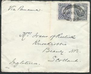 PERU 1890 cover Lima to Scotland...........................................42394