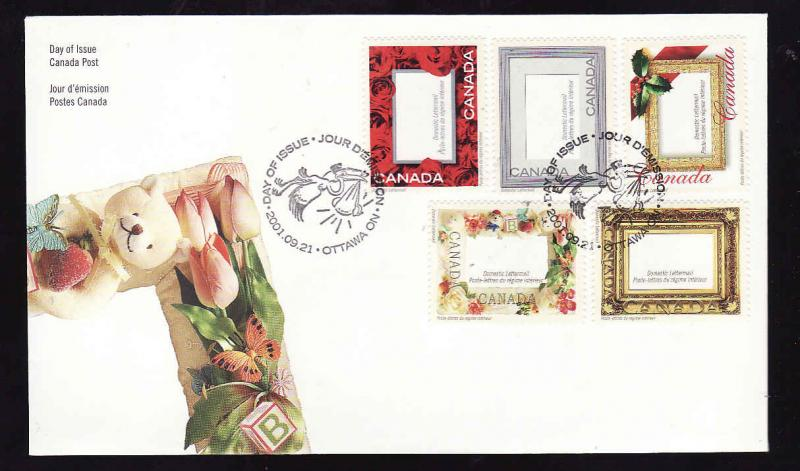 Canada-Sc#1918-stamp on FDC-Picture Postage-2001-