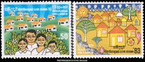 Sri Lanka Scott 684-685 Mint never hinged.