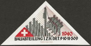 Switzerland 1939-45 WWII Feldpost Soldier CONSTRUCTION Local Vignettes VF-HR