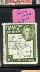 WFALKLAND ISLAND DEPENDENCIES  (P1405B)   KGVI MAP  1/2D  SG G9   MNH