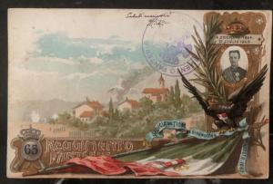 1902 Verona Italy Picture Postcard cover PPC 65 Infantry Regiment To Milano