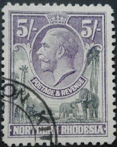 North Rhodesia 1925 GV Five Shillings SG 14 used