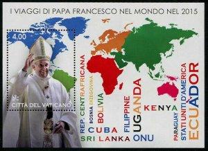 HERRICKSTAMP NEW ISSUES VATICAN CITY Sc.# 1634 Journeys Pope Francis 2015