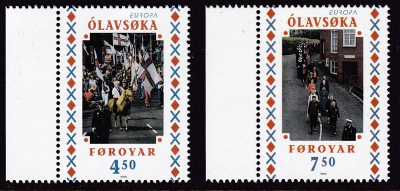 Faroe Island1998 Europa Issue (2) National Day Parade   VF/NH