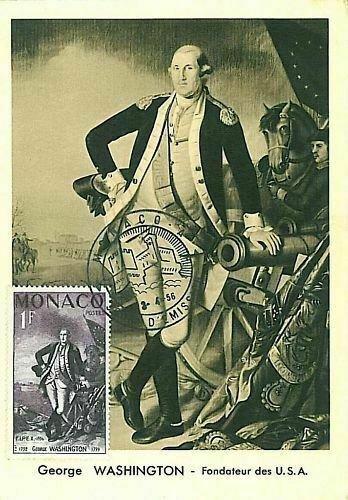 10880 - MONACO  - POSTAL HISTORY -  MAXIMUM CARD -  POLITICS - WASHINGTON  1956
