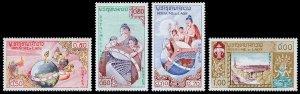 Laos Scott 48-51 (1958) Mint NH VF Complete Set W