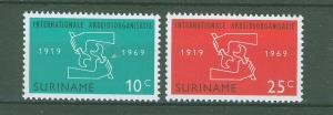 SURINAM/SURINAME 1969 MNH SC.366/67 ILO