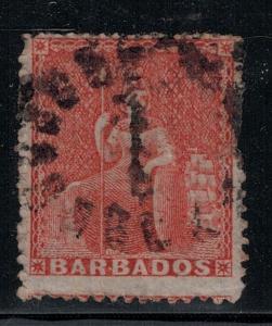 Barbados 1861 18 Used SCV $120.00
