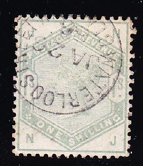 Great Britain Scott Nr.-107. 1884 1 Shilling green VF/Used/(o)