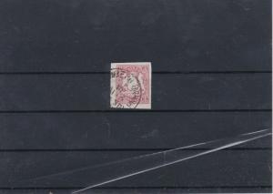 Barvaria 1867 Imerf 3K Carmine Used Stamp CAT£31 Ref: R7498