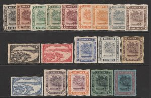 BRUNEI : 1924 River View set 1c-$1, wmk script CA.