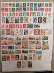 France 100+ stamps - Lot C