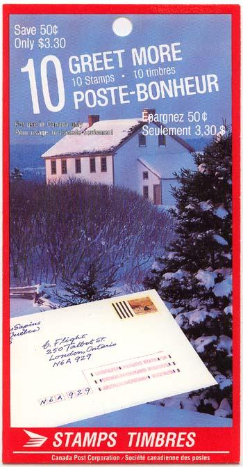 Canada - 1989 33c Christmas Booklet Complete #BK106a HF Cat. $150.