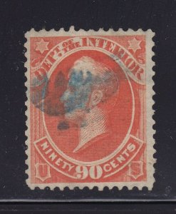 O24 VF used blue cancel with nice color cv $ 50 ! see pic !