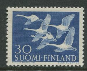 Finland - Scott 344 - Whooper Swans -1956- MLH - Single 30m Stamp