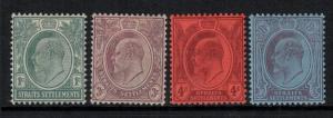 Straits Settlement 1903-4 SC 105-108 LH CV $79