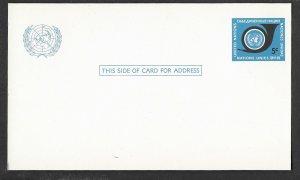 UN-NY # UX4    5c  Postal Card - Mint  (1)