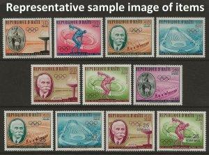 Haiti 1960 Olympics #462-465, C163-C165, B18-B19, CB28-CB29 VF-NH CV $5.45