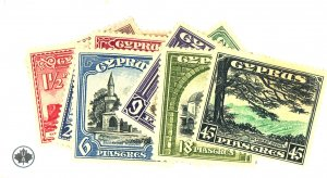 CYPRUS #125-35 MINT FVF OG MOST NH Cat $285