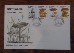 Botswana 1982 Christmas Fungi set on First Day Cover
