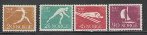 Norway Sc 389-92 Sports Federation 100 years stamps NH