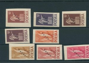Poland 1955 Treaty Russo Proba Proofs Overprinted MNH (BKA 2149