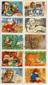 Great Britain Sc 1538-47 1994 Greetings stamp set used