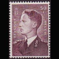 BELGIUM 1952 - Scott# 449a King Violet Brown Set of 1 LH